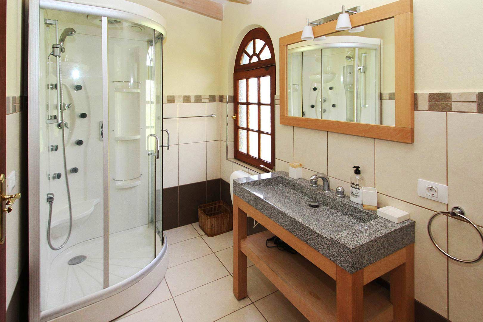Bathroom with massage shower