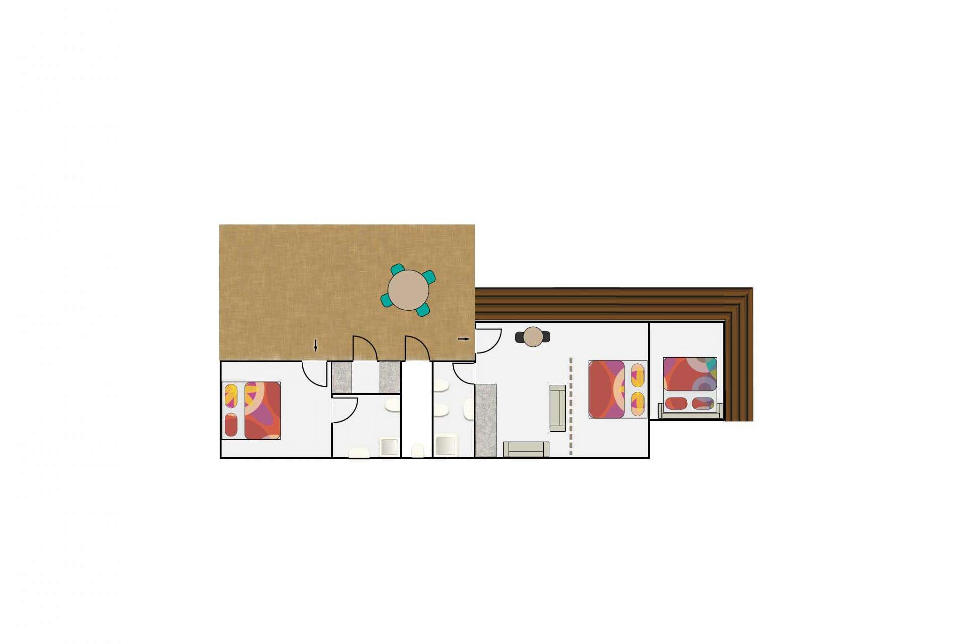 Layout of Studio Parlour