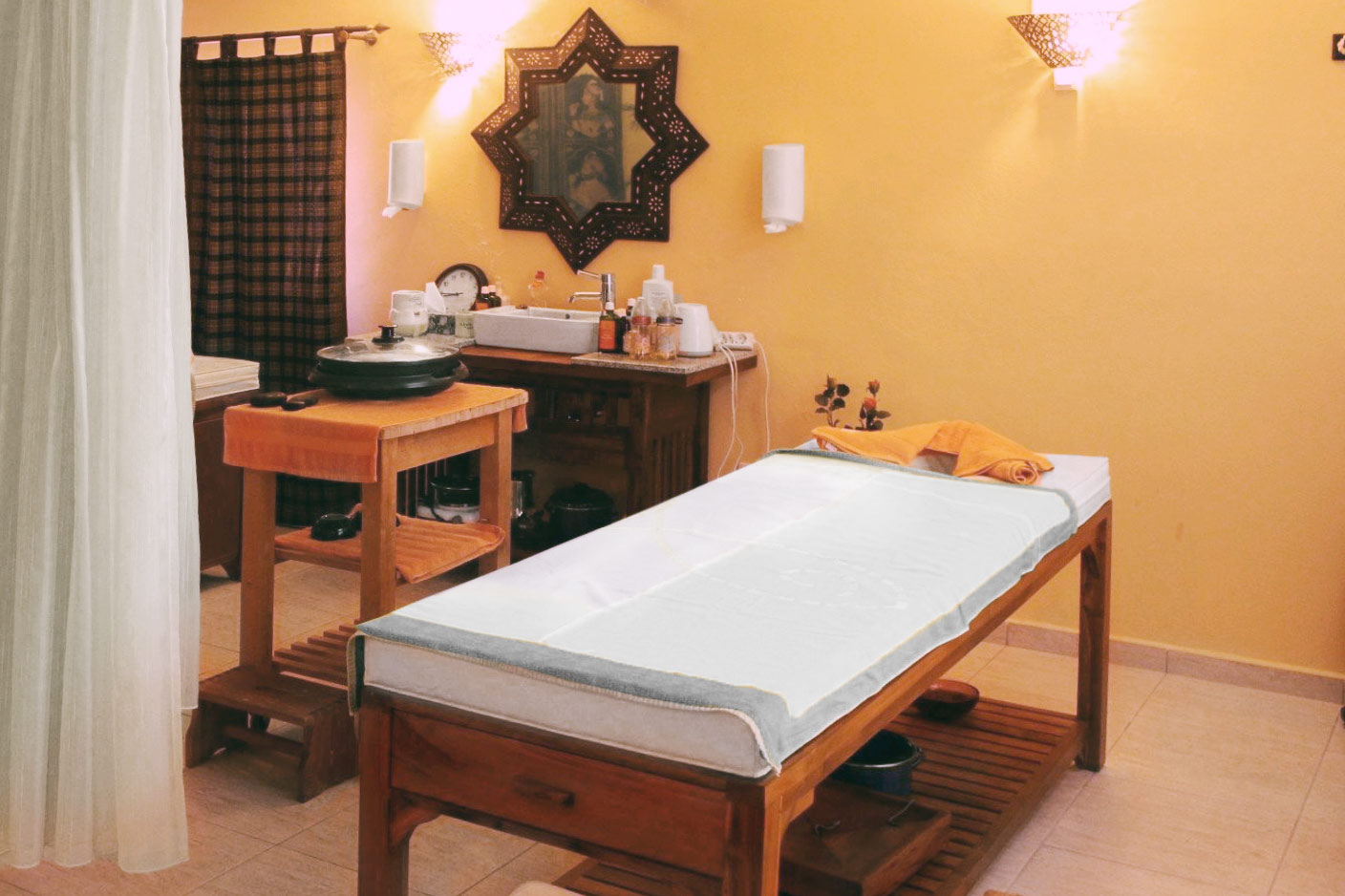 Treatment area at Finca Montimar (accessible with booked treatment