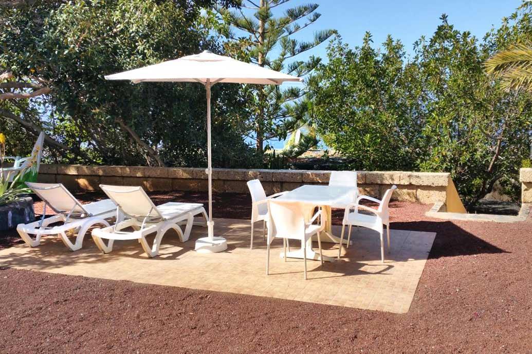 Terrasse von Apartments FIBAN