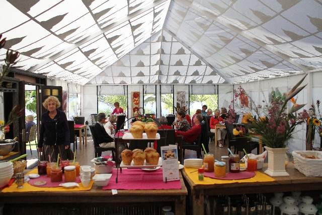 Teneriffa Finca Montimar: Veranstaltungszelt Frühstück