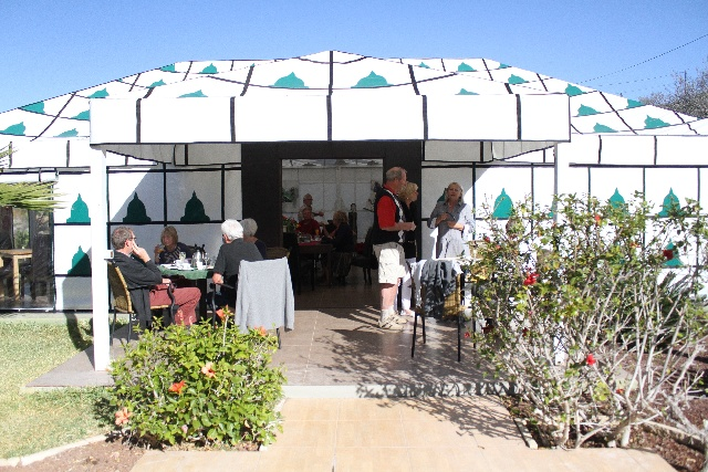 This tent is the location for fiestas hosting up to 50 Persons.