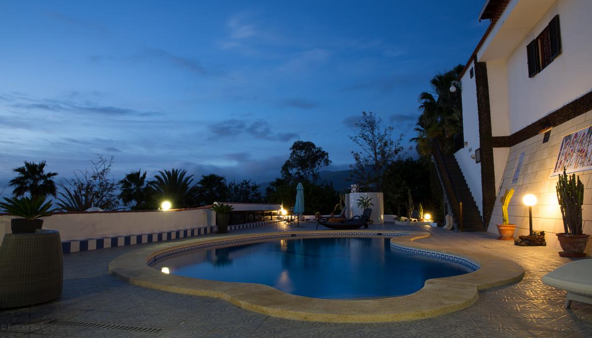 Pool Landschaft Finca Alcala Teneriffa